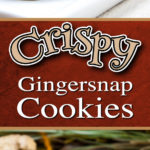 Crispy Gingersnap Cookies - This gingersnap recipe makes the perfect crispy, crunchy, spicy cookie. Full of ginger, molasses cinnamon, nutmeg, and black pepper. Yes, black pepper! #gingersnap #cookies #recipe #holidays #christmas #thanksgiving