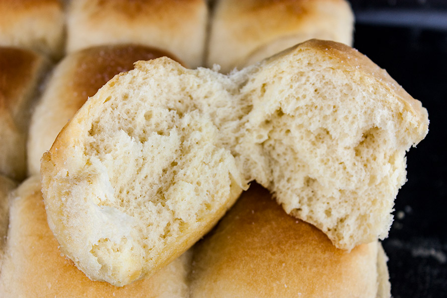 Soft and Fluffy One Hour Dinner Rolls - Easy, fast, amazingly soft, fluffy, light and flavorful! Warm, buttery rolls on the table in 60 minutes.