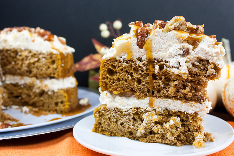 pumpkin cake recipe with cream cheese filling