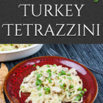 Easy Creamy Turkey Tetrazzini - From scratch, no canned soup! Use those turkey leftovers from Thanksgiving and Christmas in this easy, delicious, creamy noodle dish. #leftoverturkey #recipe #turkey