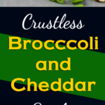 Fluffy, creamy and loaded with cheesy goodness. This crustless broccoli cheddar quiche recipe is so full of flavor you won't miss the crust. #keto #lowcarb