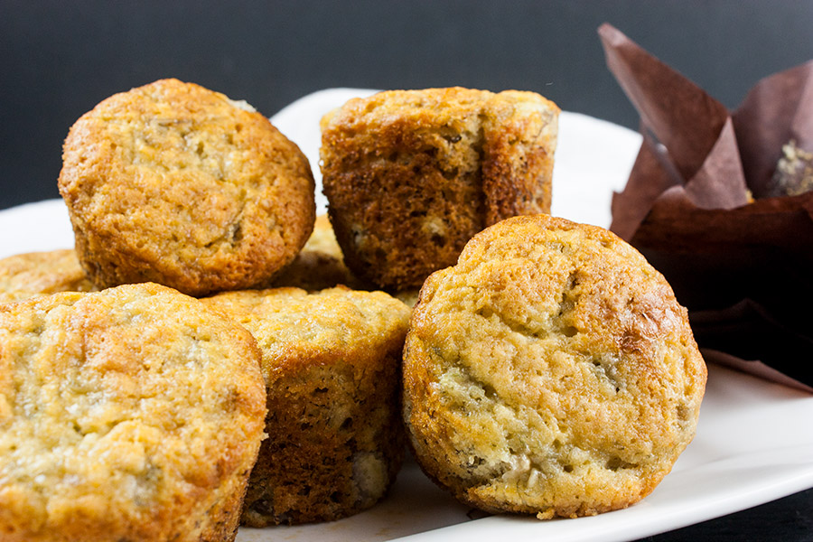 Best Ever Banana Muffins - The only recipe you will ever need. Moist, full of banana flavor and so easy to make! These banana muffins are ready to serve in less than 30 minutes.
