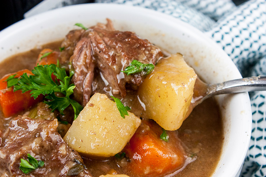 Slow Cooker Beef Stew - Thick, creamy, flavorful comfort food from your slow cooker!