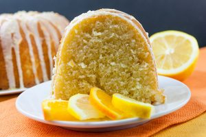 Lemon-Orange Pound Cake - Buttery, soft pound cake laced with lemon and orange zest and topped with a delicious citrusy glaze. Bursting with citrus flavors this cake just screams spring dessert!