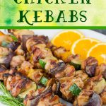 Orange Rosemary Chicken Kebabs - Moist, tender, and deeply flavored chicken and vegetables! Perfect for grilling season. So simple to prepare. #dinner #lowcarb #bbq #grill
