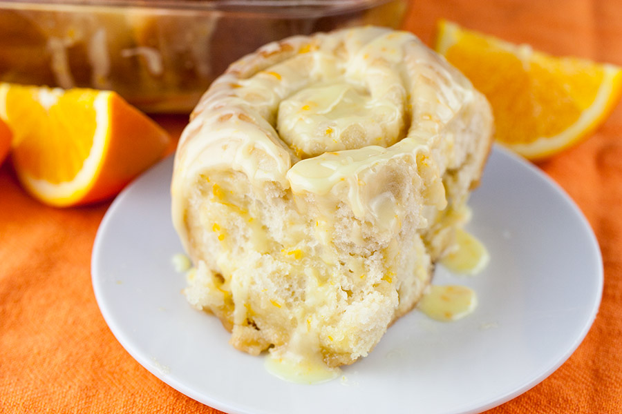Easy One-Hour Orange Rolls - Super soft and fluffy with the perfect amount of fresh orange flavor.
