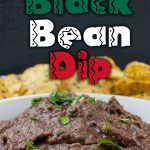 Easy Black Bean Dip - Ready in under 5 minutes. It's great for any party, gathering or just simple Taco Tuesday at home! A simple,creamy black bean dip packed with Southwestern flavor. #appetizer #dip #recipe #easyrecipe #gameday #football