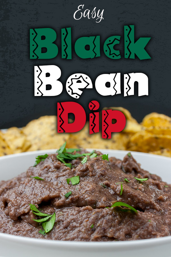 Easy Black Bean Dip - Ready in under 5 minutes. It's great for any party, gathering or just simple Taco Tuesday at home! A simple, creamy black bean dip packed with Southwestern flavor. #appetizer #dip #recipe #easyrecipe