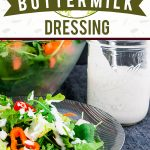 Southern Buttermilk Dressing - So simple to make you will never purchase store-bought again! A creamy, tangy buttermilk dressing flavored with fresh herbs that's great on salads, pasta or a vegetable dip. #lowcarb #keto #recipe #salad