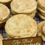 Slightly crisp edges, cinnamon sugar crackle top with a soft chewy center. That's the classic Snickerdoodle cookie in a nutshell.#snickerdoodle #cookies