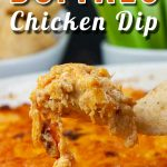 Buffalo Chicken Dip - Spice up game days, holidays, etc. with this easy to make, creamy, cheesy buffalo flavored appetizer! #appetizer #lowcarb #keto #recipe #party