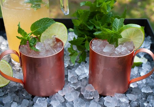 Skinny Moscow Mule - Sugar-free cocktail! Yes, no added sweeteners at all. Crisp, light, and totally refreshing. It's five o'clock somewhere, right?