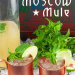 Skinny Moscow Mule - Sugar-free cocktail! Yes, no added sweeteners at all. Crisp, light, and totally refreshing. It's five o'clock somewhere, right? #cocktails #lowcarb #sugarfree #recipe