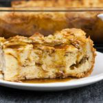 Bread Pudding with Bourbon Sauce - Moist, dense yet light, kissed with classic spice flavor. This bread pudding is decadence at it's best! The bourbon sauce makes it over-the-top indulgent!