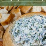 From scratch, no dry soup mix in this recipe. An easy cold, creamy, healthy, flavorful appetizer to wow your friends and family! #spinachdip #healthy