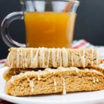 Spiced Apple Cider Biscotti - The perfect fall biscotti recipe for your cookie jar! Boiled apple cider gives this biscotti an intense apple flavor.