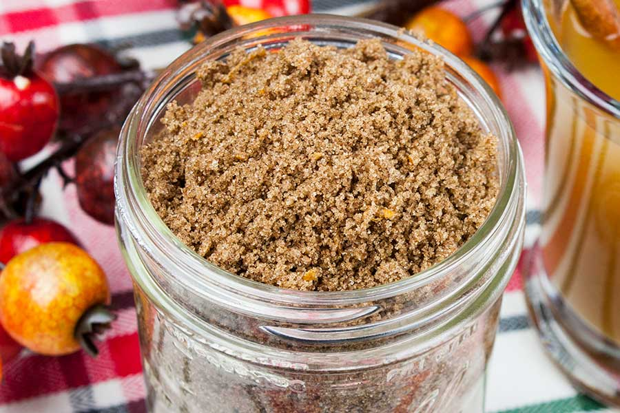 Apple Cider Spice Mix - Add this instant mulling mix recipe of tangerine infused brown sugar and spices to apple cider, wine, coffee, or tea for a delicious hot winter beverage. Makes cold days and nights warm and comforting!