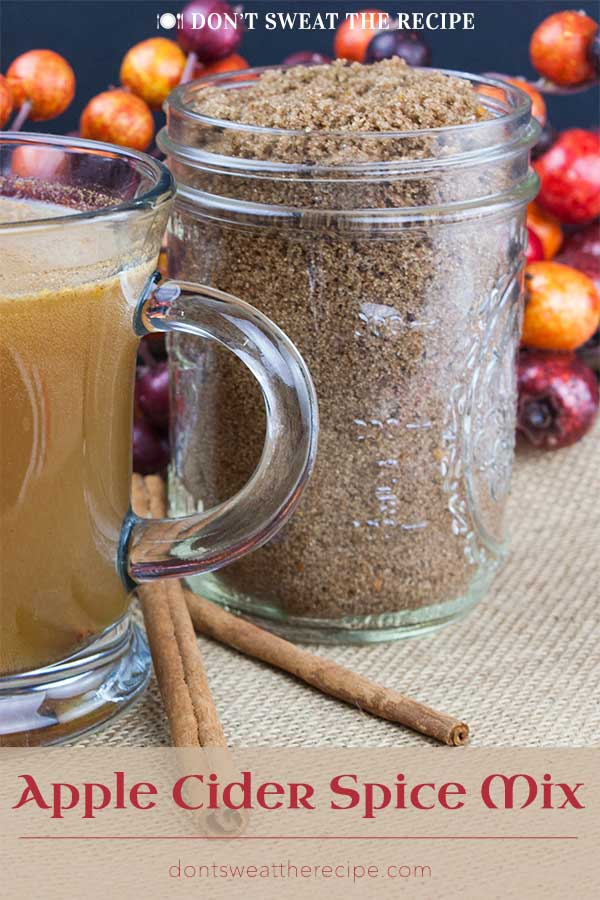 Apple Cider Spice Mix - Add this instant mulling mix recipe of tangerine infused brown sugar and spices to apple cider, wine, coffee, or tea for a delicious hot winter beverage. Makes cold days and nights warm and comforting! #fall #winter #drinks #holiday #holidays #christmas #thanksgiving #recipe
