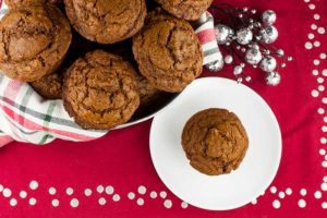 Gingerbread Muffins - Super easy recipe for moist, tender, and perfectly spiced Gingerbread Muffins that are perfect during the holidays.