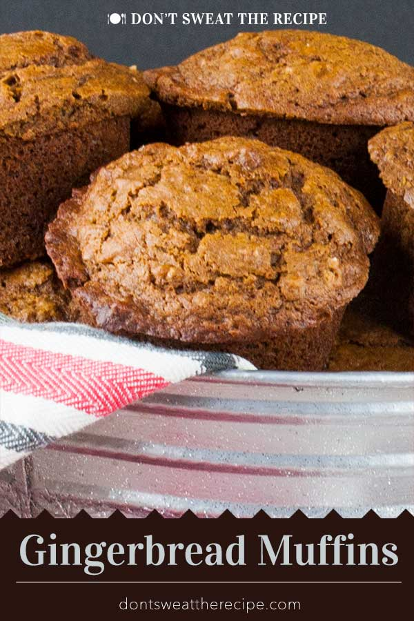 Gingerbread Muffins - Super easy recipe for moist, tender, and perfectly spiced Gingerbread Muffins that are perfect during the holidays. #holidays #recipe #gingerbread #christmas #thanksgiving #dessert