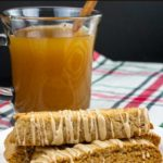 The perfect fall Spiced Apple Cider biscotti recipe for your cookie jar! Boiled apple cider gives this biscotti an intense apple flavor. #cookies #biscotti