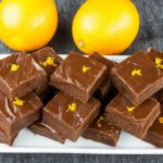 Chocolate Orange Fudge - Perfect holiday treat recipe. Thick, creamy, dark chocolate kissed with the zest of an orange.
