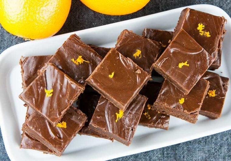 Chocolate Orange Fudge - Perfect holiday treat recipe. Thick, creamy, dark chocolate kissed with the zest of an orange.