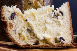 Panettone Recipe - A sweet Italian bread, traditionally enjoyed during Christmas. Rich, buttery bread, light in texture and studded with a mixture of dried fruit.