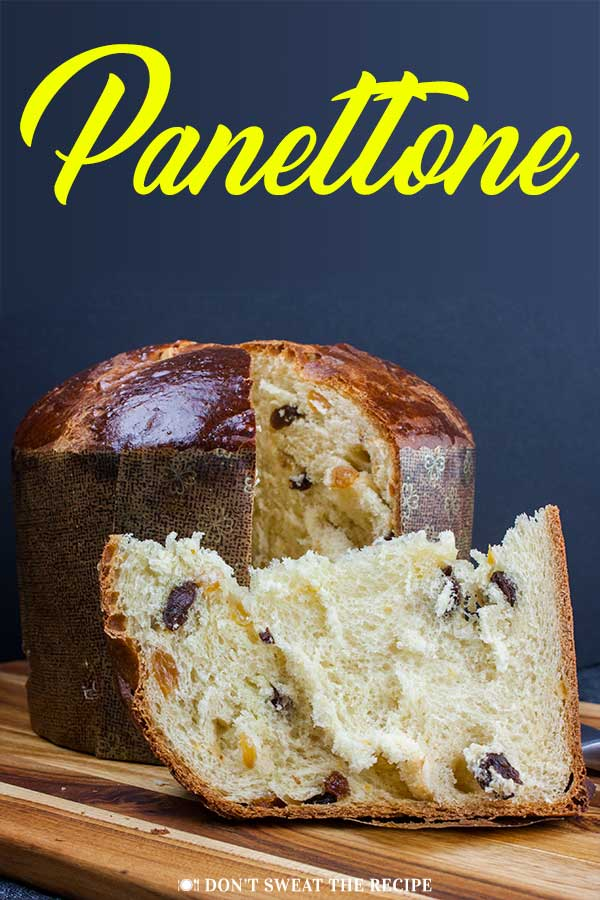 Panettone Recipe - A sweet Italian bread, traditionally enjoyed during Christmas. Rich, buttery bread, light in texture and studded with a mixture of dried fruit. #christmas #bread #recipe #italian #holiday #holidays