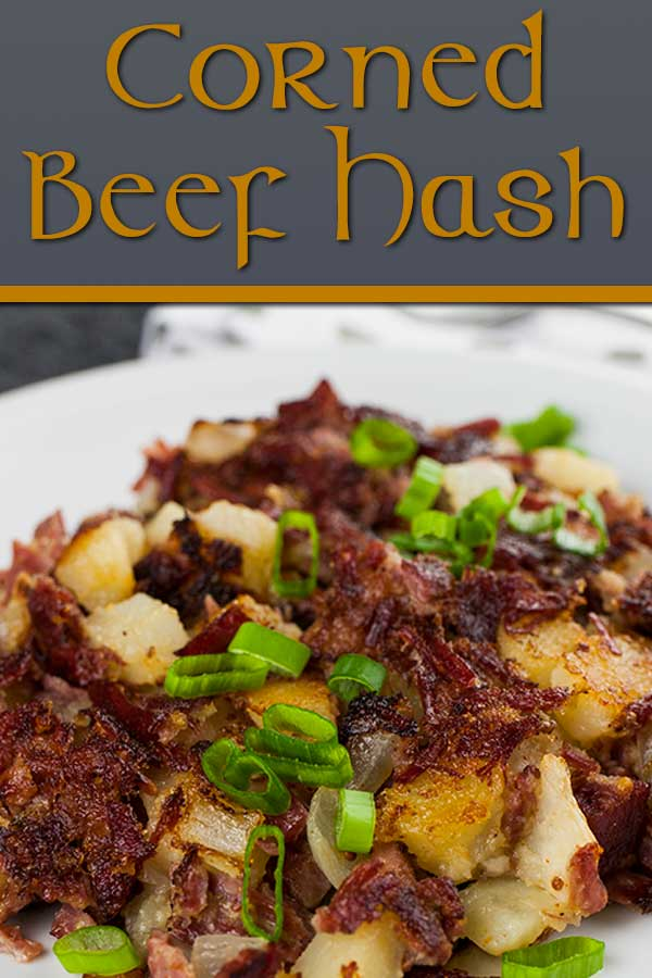 Corned beef hash is a perfect way to use leftover corned beef while serving up a deliciously crispy and flavorful meal packed full of flavor and texture. #cornedbeefhash #hash #breakfast #potatoes