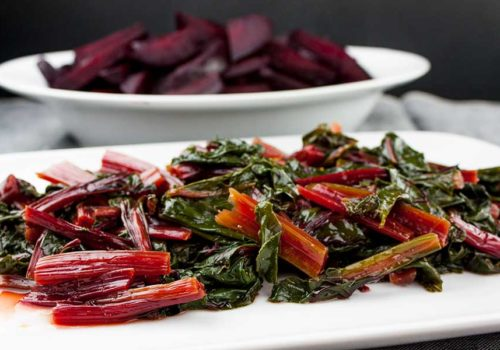 Ninja Foodi Fresh Beet Greens - Beet greens and stems are edible. Simple and quick in an electric pressure cooker and packed with healthy nutrients.