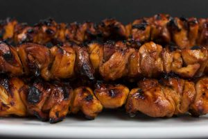 Filipino Chicken Kebabs - Tired of your standard grilled chicken. You have to try these deliciously flavorful Filipino chicken kebabs. Quick and easy and bursting with Asian flavors.