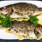 Baked Whole Red Snapper - Deliciously seasoned with citrus and herbs this red snapper recipe is on the table in minutes! Easy and healthy!