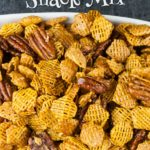 Praline Crunch Snack Mix - The perfect balance of salty, sweet, and crunchy! Not to mention it's extremely addictive. Beware! #praline #southern #snacks #recipe #pecan