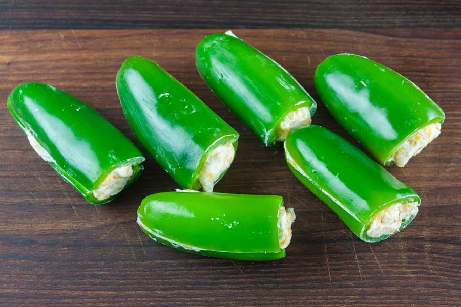 jalapenos stuffed with cheese mixture