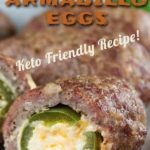 Keto armadillo eggs are the PERFECT snacky appetizer you can prepare that will keep you from cheating as well as appeal to your non-keto friends and family. #keto #recipes #food #appetizers #bbq #grilling