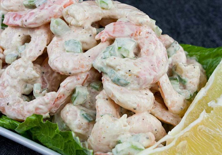 Shrimp Salad - It's simple yet full of classic flavors! It's a light, creamy, cold salad perfect for those hot summer days.