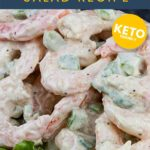 Shrimp Salad Recipe - It's simple yet full of classic flavors! It's a light, creamy, cold salad perfect for those hot summer days. #shrimp #salad #keto #lowcarb #creamy #recipe