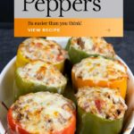 A pin of a stuffed Bell Peppers Recipe