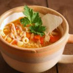 Sicilian chicken noodle soup in a cup