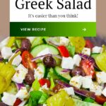 The only recipe you will ever need for Greek Salad Dressing! So easy you will kick yourself for purchasing the bottled stuff. A healthy salad to serve all year long. #fresh #salad #healthy #easy #greek