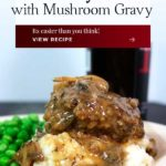 Salisbury Steak with Mushroom Gravy is a simple, hearty, and delicious recipe. Serve over mashed potatoes and everyone is happy!
