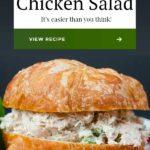 Not your typical chicken salad recipe. No nuts, no fruit here! The best-tasting savory chicken salad! #chicken #chickensalad #sandwich