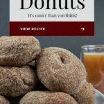 apple cider donuts on white platter