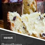 panettone on a wooden board