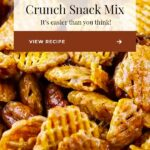 praline crunch snack mix in bowl