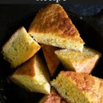 A very moist cornbread that really accentuates the flavors of Louisiana. The sweetness of the corn married with the spiciness of the creole seasoning goes perfectly together.
