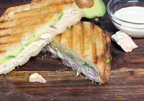 Smoked Panini Sandwich on a cutting board