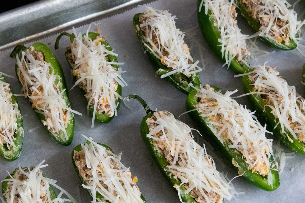 jalapeno poppers ready for the oven